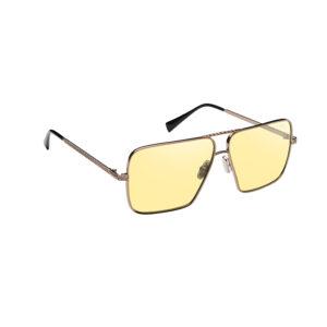 occhiale da sole uomo anni 70 con lenti gialle